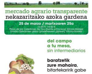 Slow Food Araba-Álava en el XV Mercado Agrario Transparente