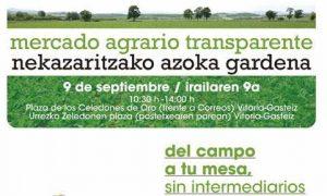 Slow Food Araba-Álava en el XVI Mercado Agrario Transparente